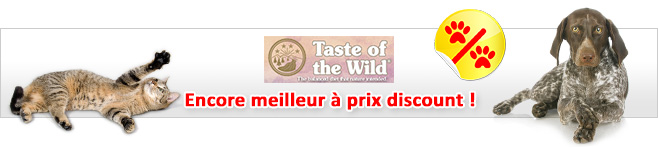 Aliments Taste of the Wild pour chien et chat
