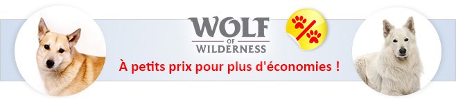 Aliments Wolf of Wilderness pour chien