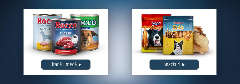 Rocoo - hrană umedă și snackuri pentru câini