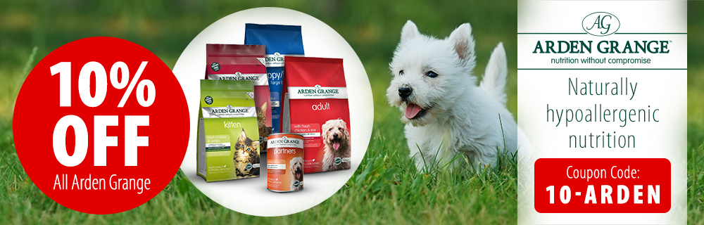 10% Off Arden Grange Dog Food and Arden Grange Cat Food