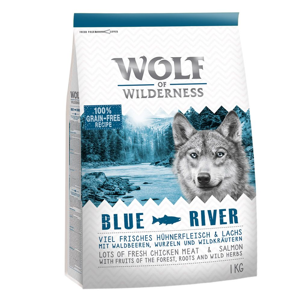 Wolf of wilderness blue river